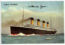 Beautiful Titanic Post Card Signed By Millvina Dean White Star Line Interest