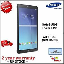 "Brand New Sealed Samsung Galaxy Tab E T561 9.6"" WIFI  3G Cellular  8GB - BLACK"