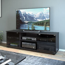 Sonax Fiji 60-Inch TV Component Bench, Ravenwood Black - FB-2600