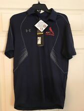 St Louis Cardinals Mens Navy Under Armour Polo Size Small Nwt