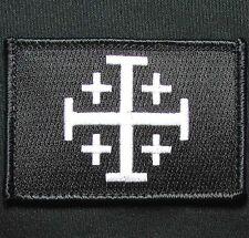JERUSALEM CROSS CRUSADER JIHAD SWAT OPS TACTICAL HOOK MORALE BADGE PATCH