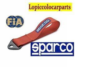 GANCIO TRAINO RACING original SPARCO NASTRO  ROSSA 01637RS OMOLOGATO FIA