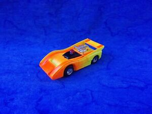 $1-5 Day RARE Tyco SUPERGLOW MCLaren M8F Curvehugger HO Slot Car Orange & Yellow