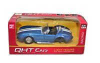 Vintage QHT Car Collection Shelby Ford Cobra 1:32 Blue in Box