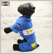 Hundeoverall Anzug Pullover Welpe Mantel Weste Chihuahua S M L XL Blau
