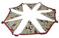 Gisela Graham Cowboy and Indian Fabric Bunting - Bedroom / playroom decoration
