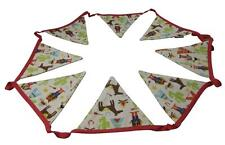 Children's Boys Bedroom Fabric Bunting Cowboys and Indians Gisela Graham 180cm