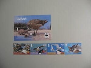 SOUTH GEORGIA, Block + strip of 4v. ,  BIRDS, 2012,  **/MNH