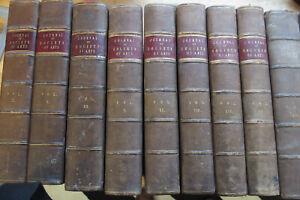1852 - 1875 Journal of the Society of Arts 13 Halblederbände