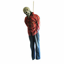 6' Life-size Hanging Rotting Man Skull Skeleton Haunted House Halloween Prop 72""