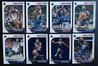 2019-20 Panini NBA Hoops Minnesota Timberwolves Base Team Set 8 Basketball Cards
