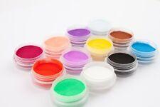 Acryl Pulver Acrylfarben 12 Stück Set für die optimale Acrylmodellage