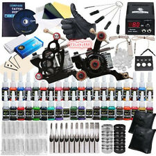 Professional Complete Tattoo Kit 2 Machine Gun 40 Color Ink Needle Power Supply