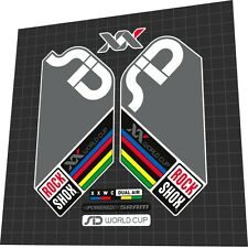 ROCKSHOX SID XX World Cup 2008 Fork Sticker / Decal Set