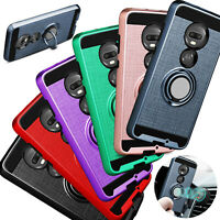 For T-Mobile Revvlry+ Plus Case Shockproof Armor Cover With Ring Holder Stand