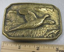 Vintage 1978 Flying Pheasant  Belt Buckle - Brass