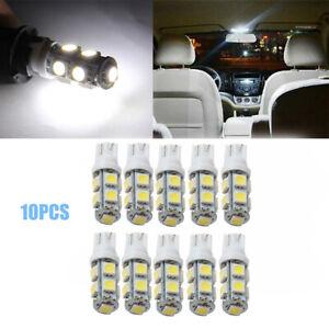 10pcs T10 9-SMD 5050 LED Side Wedge Car W5W 2825 158 192 168 License Plate Light