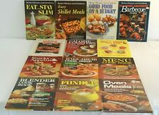 Lot of 13 Better Homes and Gardens Cookbooks Vintage 1960's and 70's~Soup~BBQ