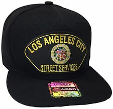 City Of Los Angeles Street Services Hat Color Black Snapback