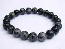 Men's Natural Gemstone Bracelet Labradorite 10mm beads 8inch elasticated