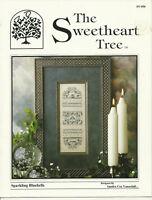 Sweetheart Tree Sparkling Bluebells Sampler Cross Stitch Pattern Leaflet Flowers