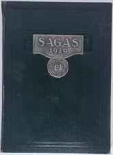 CENTRAL HIGH SCHOOL SAGAS 1929 Yearbook Evansville Indiana CHS