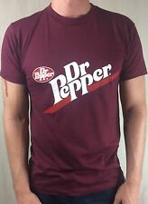 Vintage Mens L 80s Dr. Pepper Soda Screen Stars Maroon Red Graphic T-Shirt Large