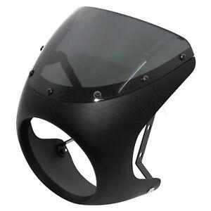 Black Headlight Fairing Windshield For Harley Honda CB100/175/200 Suzuki Yamaha