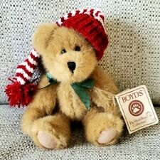 Boyds Bears Tinker #99984V 2003 6� Plush Teddy Bear Stocking Cap Christmas Nwt