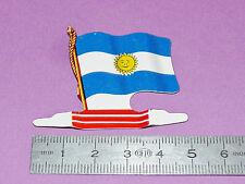 PLAQUE METAL DRAPEAU BISCUITS L'ALSACIENNE AMERICORAMA 1963 ARGENTINE ARGENTINA