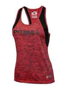 Pit Bull West Coast Women Performance Tank Top Coral Melange