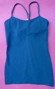 Lululemon Athletica Racer Blue Vest Run Gym Yoga Workout US 8 = UK 12 10