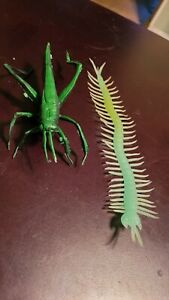 Rubber Insects Grasshopper and Centipede Used
