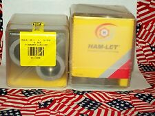 HAM-LET REDUCING TEE 764LR SS 1 X 1 X 3/8 IN 2 PC'S IN FACTORY SEALED BOX