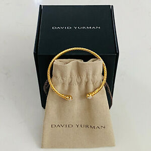 David Yurman Solari Bracelet in 18K Yellow Gold with Crystal