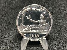 2 onzas de plata de España - Gobierno Provisional - 1869