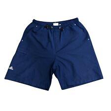 Vintage 2001 Adidas drawstring gym shorts navy blue mens large