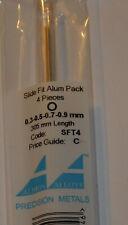 ALBION ALLOYS SFT4 SLIDE FIT  ALUM TUBE PACK 0.3-0.5-0.7-0.9mm x 305mm