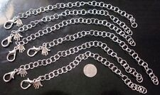 "6 Big silver plated 9"" large link 8mm charm bracelets chain no charms pch056"