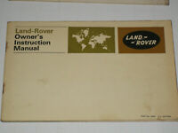 Landrover Regular Long and Forward Control Owners Handbook Pack 1968