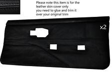 Black stitch 2 cartes de porte avant pleine en cuir couvre fits PONTIAC FIREBIRD 90-92