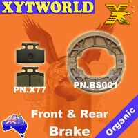FRONT REAR Brake Pads Shoes SYM Mio 50 2005-2009 2010 2011 2012 2013 2014 2015