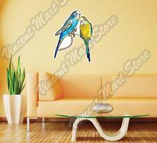 "Budgerigar Australian Parakeets Bird Wall Sticker Room Interior Decor 20""X25"""