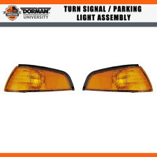 2 PCS Front Turn Signal / Parking Light Assembly Dorman For 94-95 FORD ESCORT