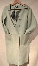 Burberry ~Prorsum Women's Light Green Leather Jacket/Coat (XS) UK 8/10  IT 36