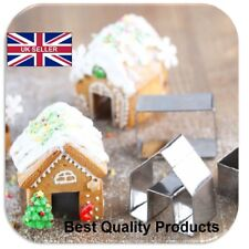 3Pcs Christmas Gingerbread House Stainless Steel Cookie CutterBiscuit Mold C096