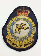 WWII Royal Canadian Air Force Patch 406 Squadron Escadrille RCAF B789