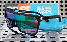 New Spy Optic FLYNN Sunglasses Matte Black w /  Green Spectra Happy Lenses