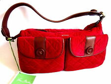 Vera Bradley Red Corduroy Shoulder Bag Limited Edition New with Tags
