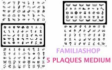 Lot 5 plaques M stamping pour vernis à ongles konad